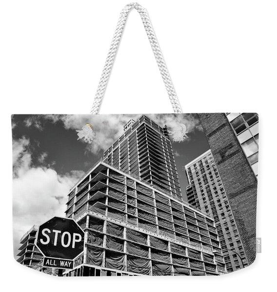 Stop All The Way Weekender Tote Bag
