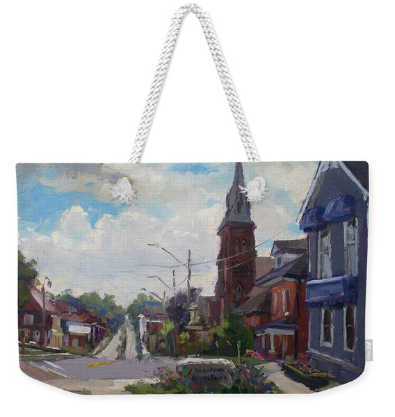 Storm Approach Over Downtown Georgetown Weekender Tote Bag
