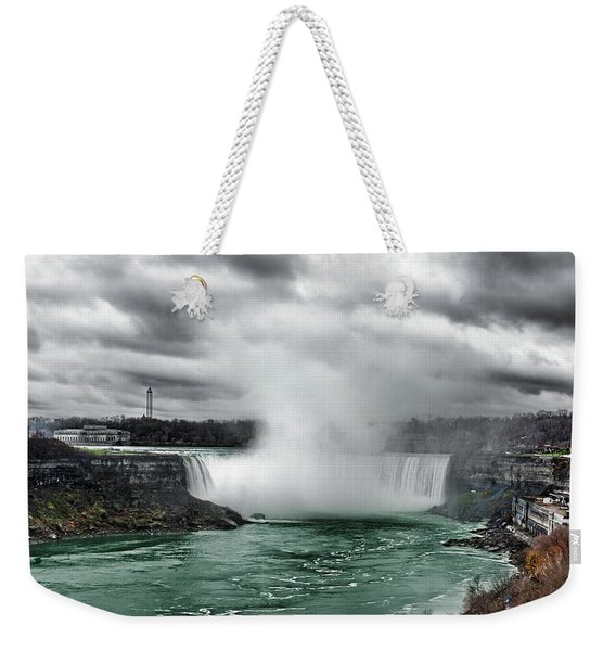 Storm At Niagara Weekender Tote Bag