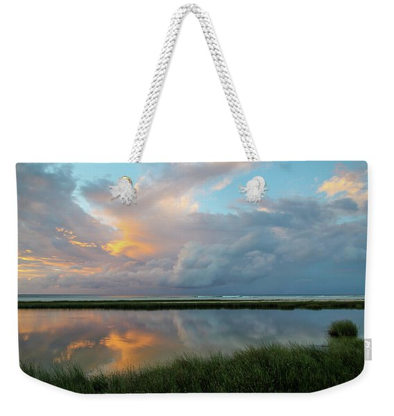 Storm Cloud Reflections At Sunset Weekender Tote Bag