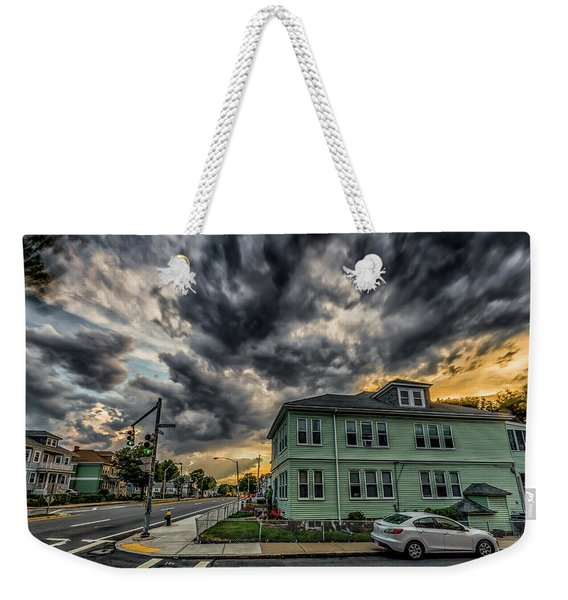Storm Clouds At Sunset Weekender Tote Bag