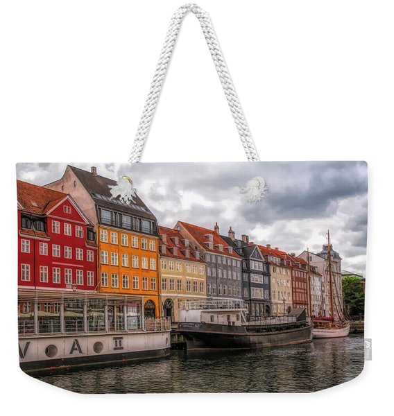Storm Clouds Over Nyhavn Weekender Tote Bag