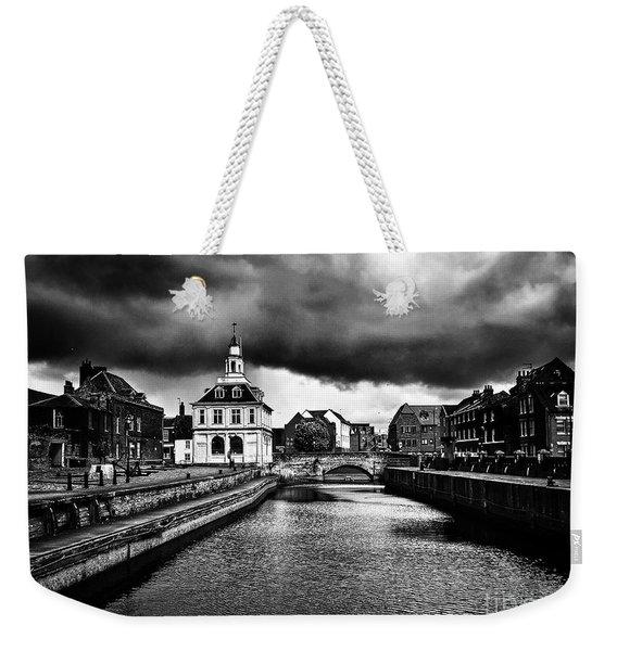 Storm Clouds Over Purfleet Quay Weekender Tote Bag