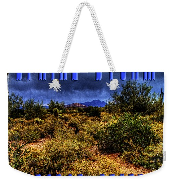 Storm Clouds Over The Sonoran Desert In Spring Weekender Tote Bag