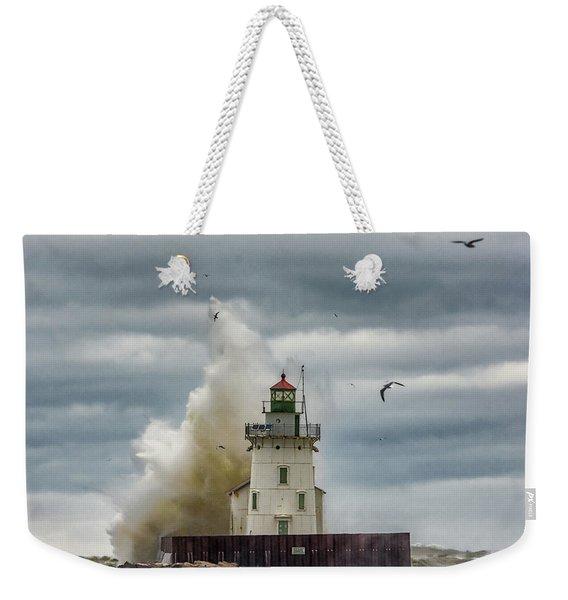 Storm On Lake Erie Weekender Tote Bag
