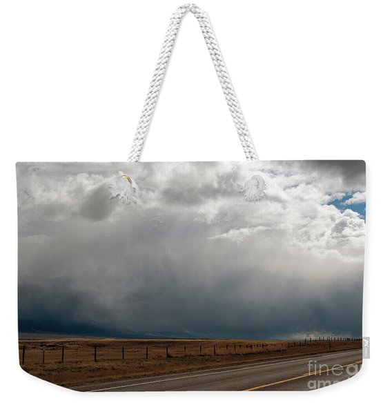 Storm On Route 287 N Of Ennis Mt Weekender Tote Bag