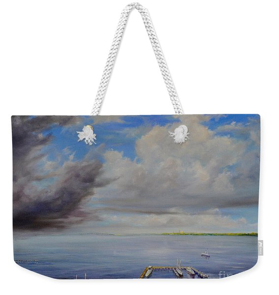 Storm On The Indian River Weekender Tote Bag