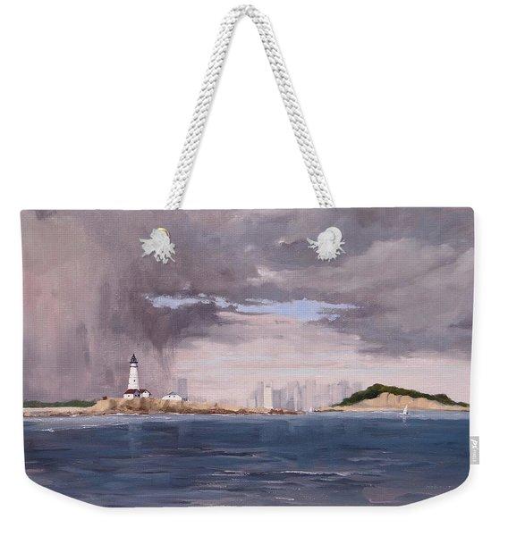 Storm Over Boston Weekender Tote Bag