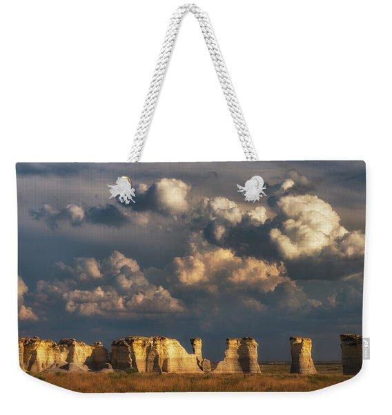 Storm Over Monument Rocks Weekender Tote Bag