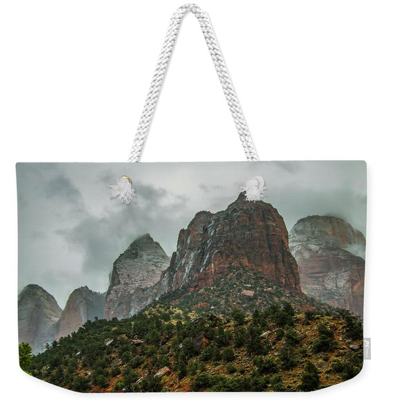 Storm Over Zion Weekender Tote Bag