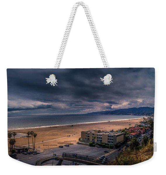 Storm Watch Over Malibu - Panarama  Weekender Tote Bag