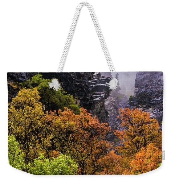 Stormy American Fork Canyon - Wasatch - Utah Weekender Tote Bag