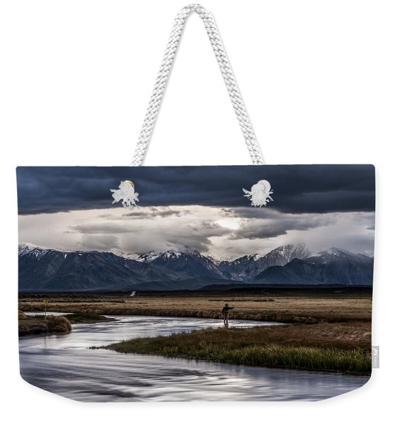 Stormy Day Of Fishing Weekender Tote Bag
