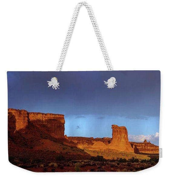 Stormy Desert Weekender Tote Bag