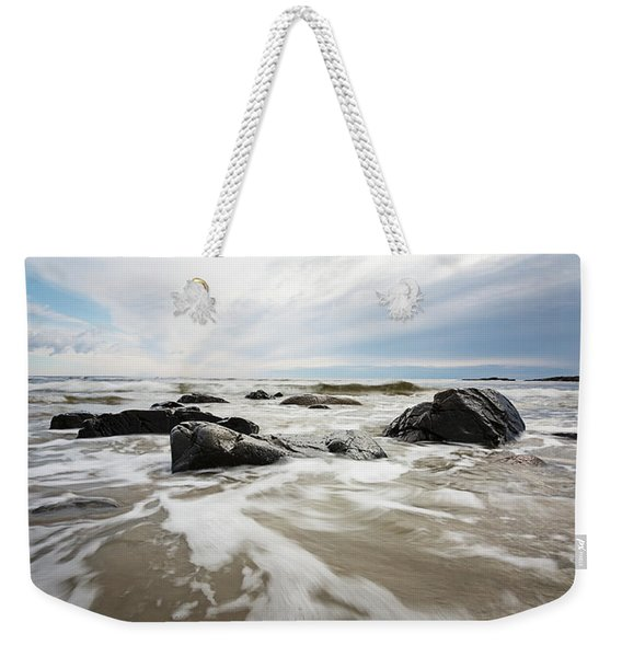 Stormy Maine Morning #3 Weekender Tote Bag