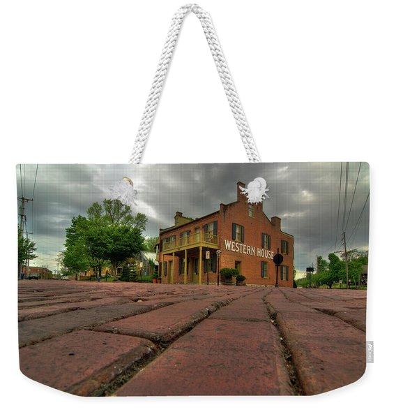 Stormy Morning On Main Street Weekender Tote Bag