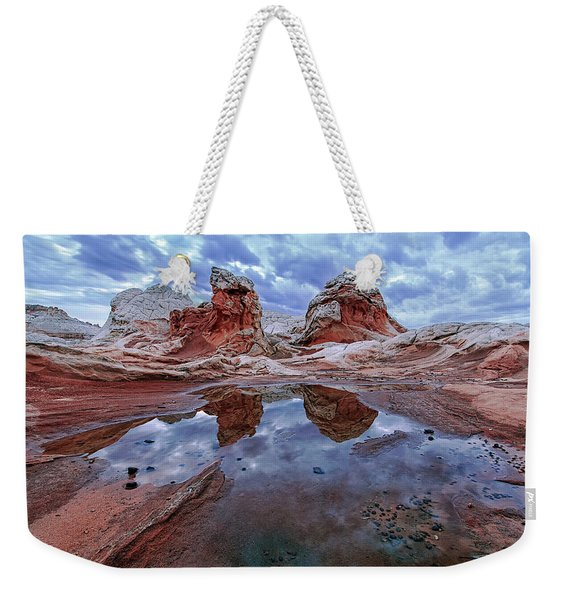 Stormy Reflection Weekender Tote Bag