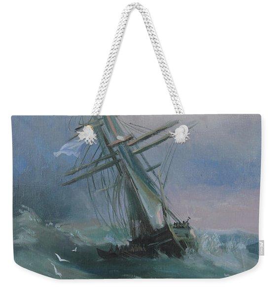 Stormy Sails Weekender Tote Bag