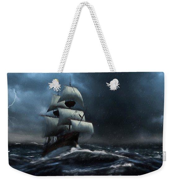 Stormy Seas - Nautical Art Weekender Tote Bag