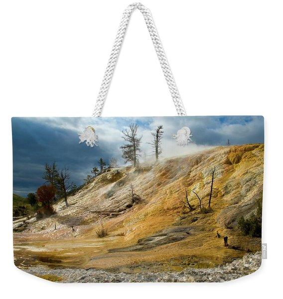 Stormy Skies At Mammoth Weekender Tote Bag