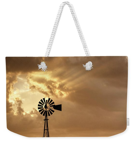 Stormy Sunset And Windmill 04 Weekender Tote Bag