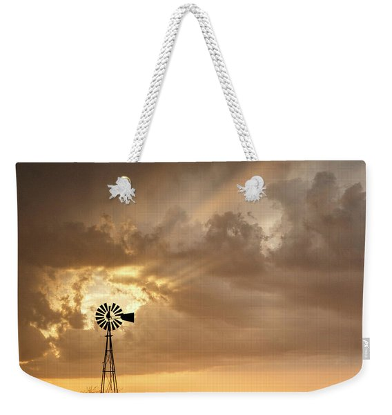 Stormy Sunset And Windmill 05 Weekender Tote Bag