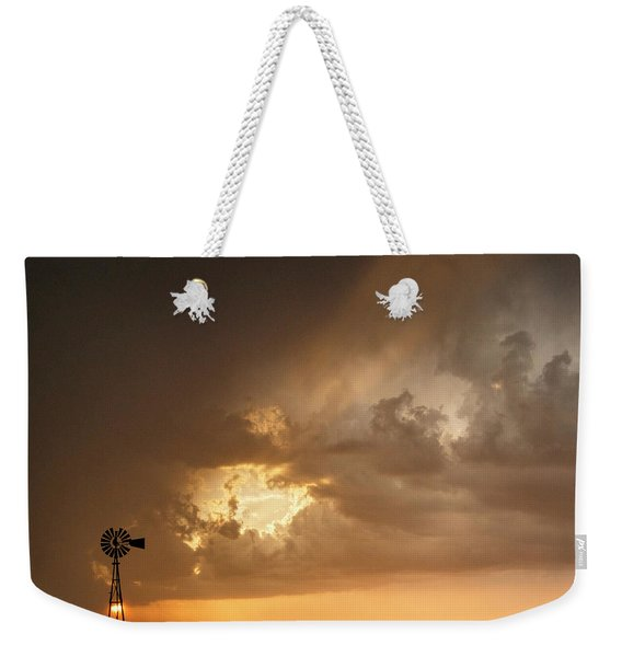 Stormy Sunset And Windmill 07 Weekender Tote Bag
