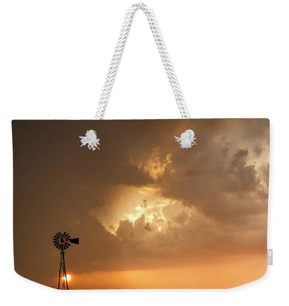 Stormy Sunset And Windmill 08 Weekender Tote Bag