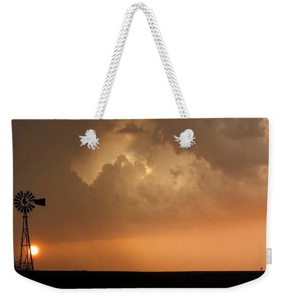 Stormy Sunset And Windmill 09 Weekender Tote Bag