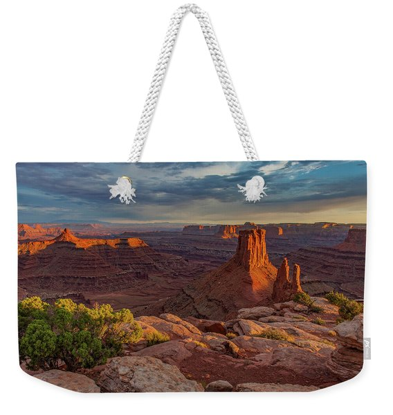 Stormy Sunset - Marlboro Point Weekender Tote Bag