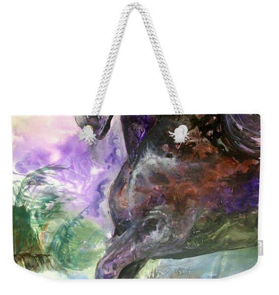 Stormy Wind Horse Weekender Tote Bag