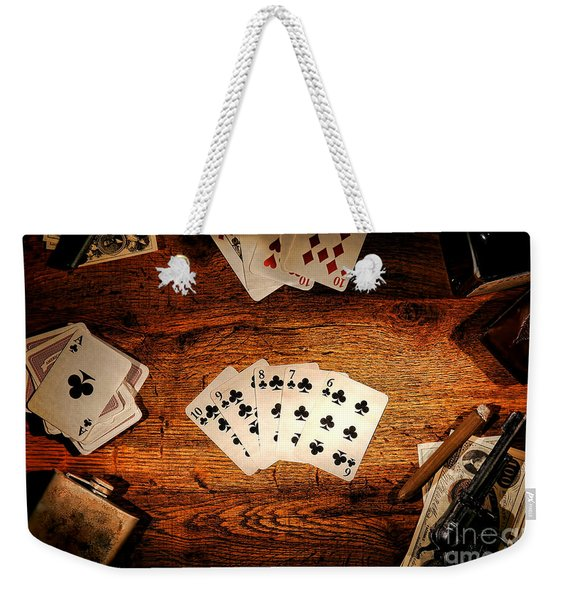 Straight Flush Weekender Tote Bag