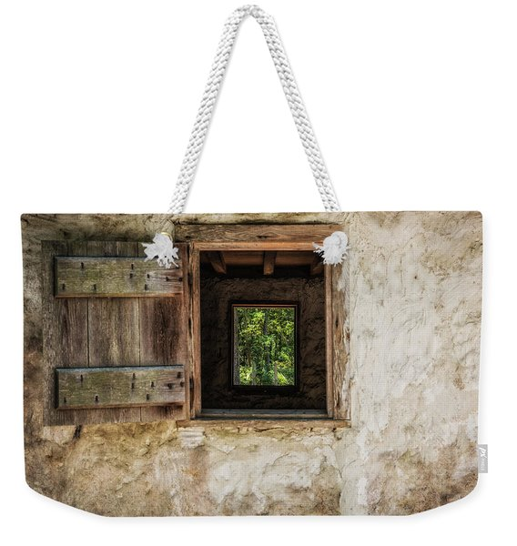 Straight Through Weekender Tote Bag