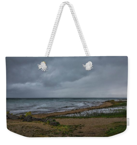 Straits Of Mackinac Weekender Tote Bag