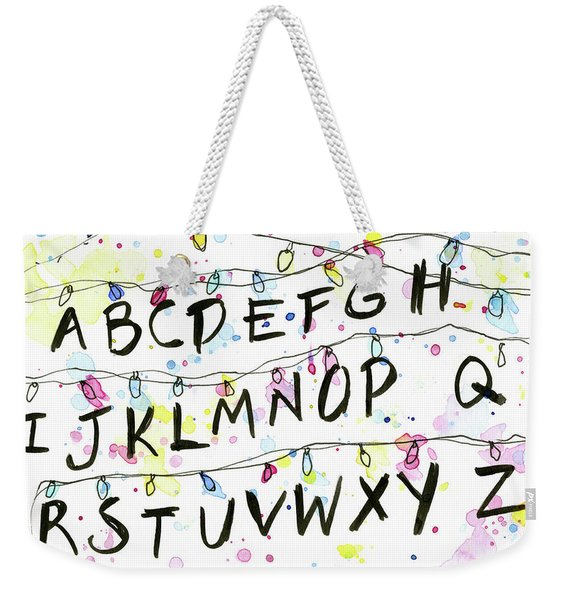 Stranger Things Alphabet Wall Christmas Lights Weekender Tote Bag