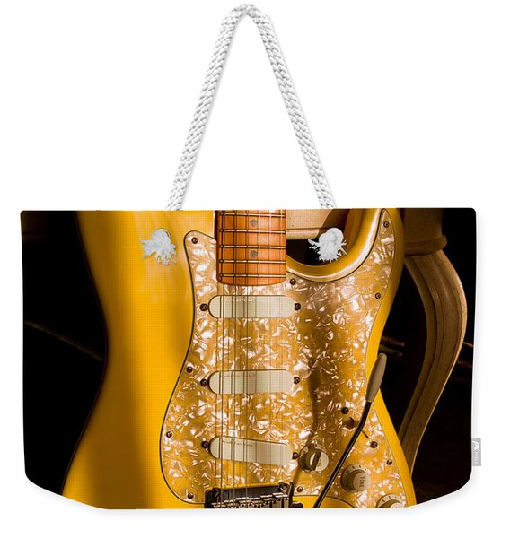 Stratocaster Plus In Graffiti Yellow Weekender Tote Bag