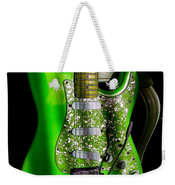 Stratocaster Plus In Green Weekender Tote Bag