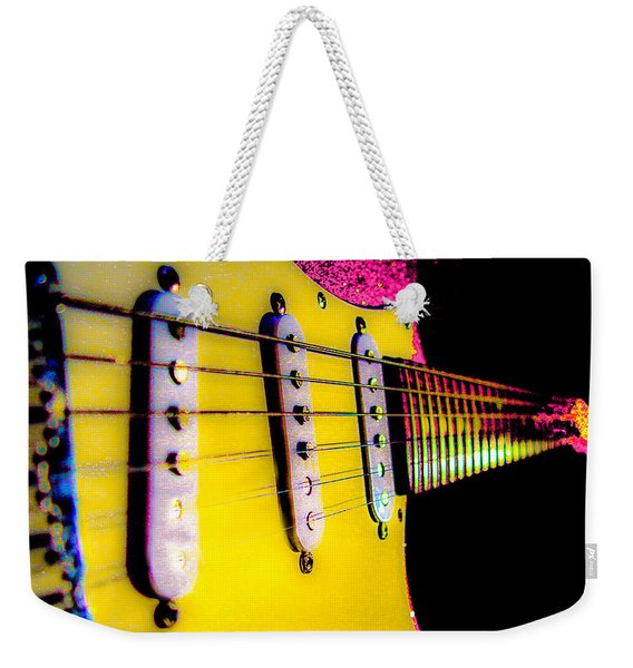 Stratocaster Pop Art Pink Fire Neck Series Weekender Tote Bag