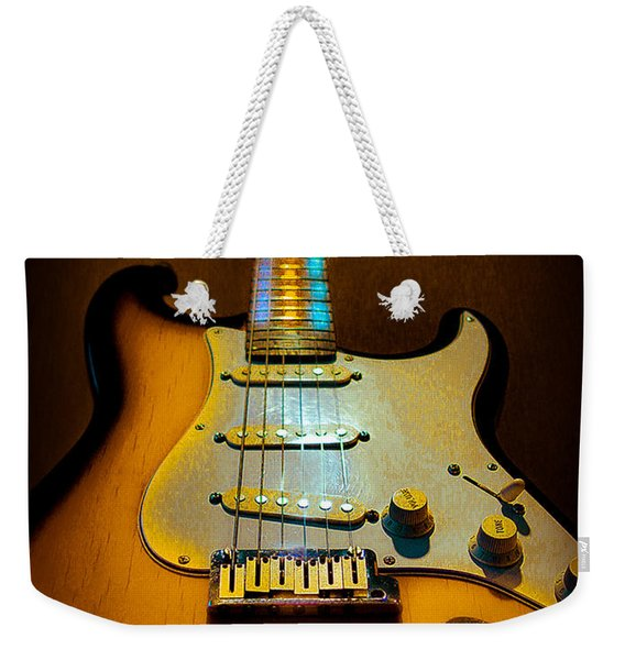Stratocaster Tobacco Burst Glow Neck Series  Weekender Tote Bag