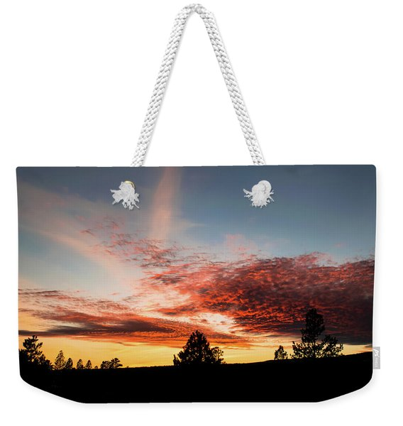 Weekender Tote Bag featuring the photograph Stratocumulus Sunset by Jason Coward