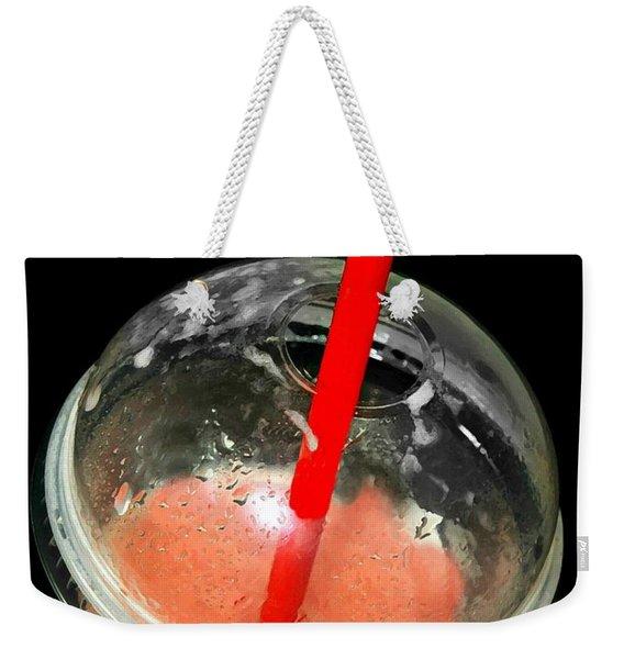 The Red Straw Weekender Tote Bag