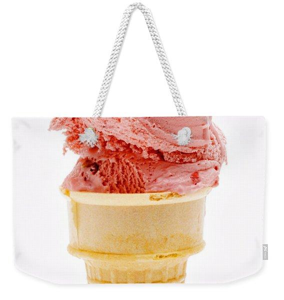 Strawberry Cherry Ice Cream Cone Weekender Tote Bag