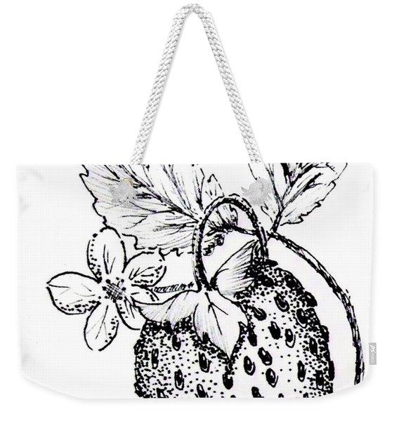 Strawberry Dreams Weekender Tote Bag