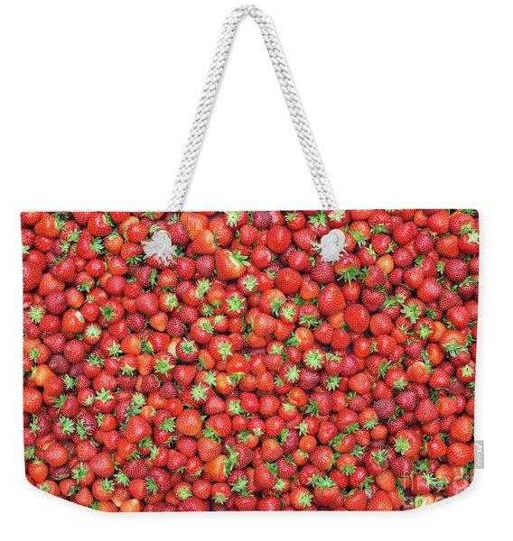 Strawberry Fest Weekender Tote Bag