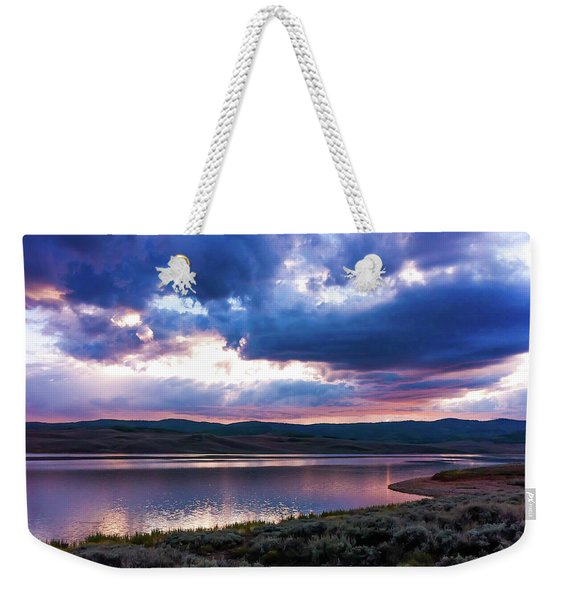 Strawberry Sunset Weekender Tote Bag