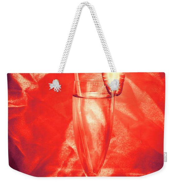 Straweberry Tropical Cocktail Drink Weekender Tote Bag