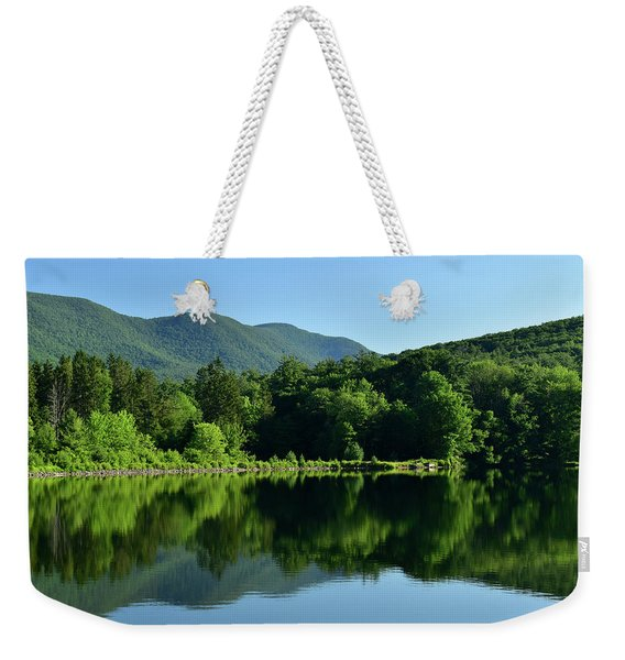 Streak Of Light At The Lake Weekender Tote Bag