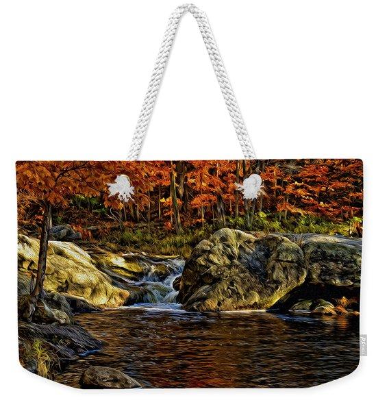 Stream In Autumn 57 In Oil Weekender Tote Bag