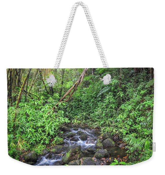 Stream In The Rainforest Weekender Tote Bag