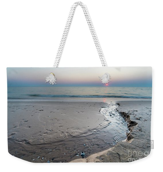 Stream To The Sunset Weekender Tote Bag